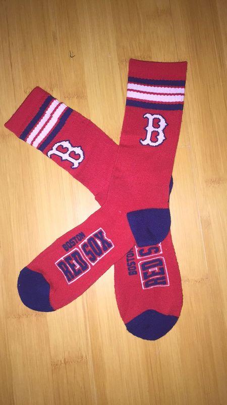 Red Sox Team Logo Red Blue MLB Socks