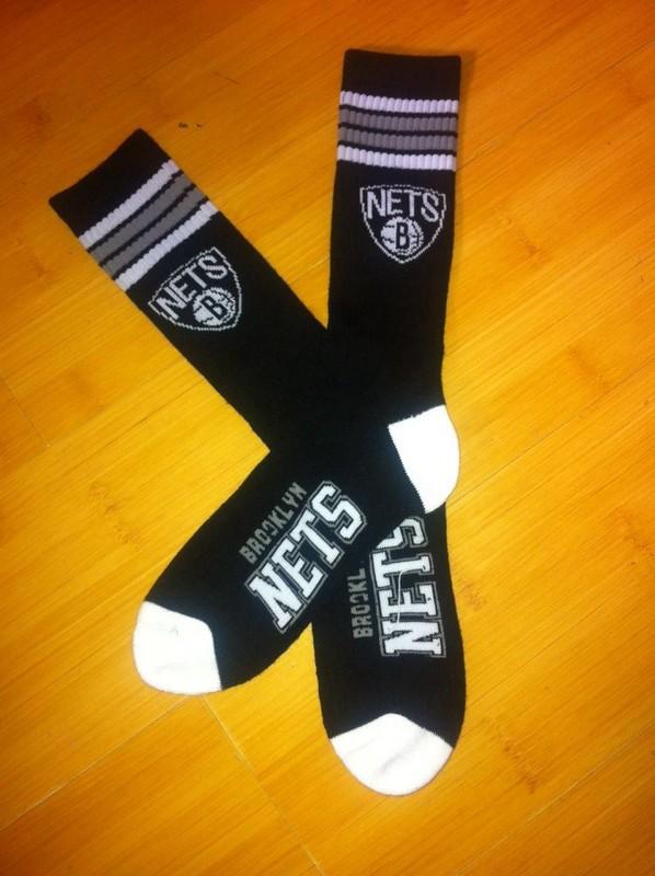 Nets Team Logo Black NBA Socks