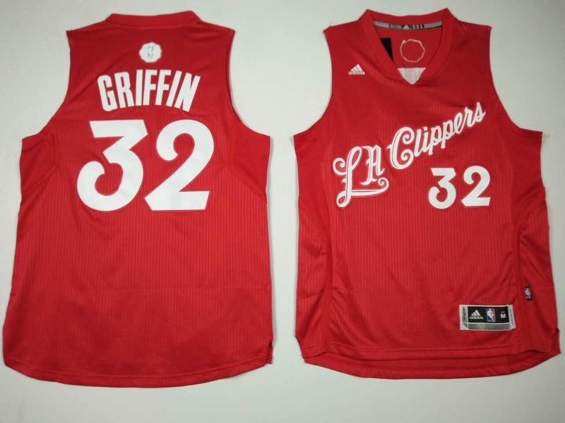 Clippers 32 Blake Griffin Red 2016 Christmas Day Swingman Jersey