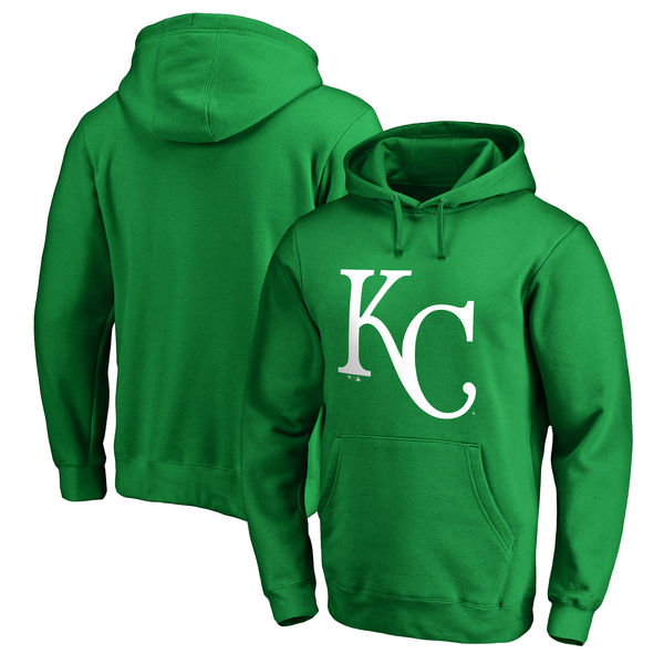 Men's Kansas City Royals Fanatics Branded Kelly Green St. Patrick's Day White Logo Pullover Hoodie