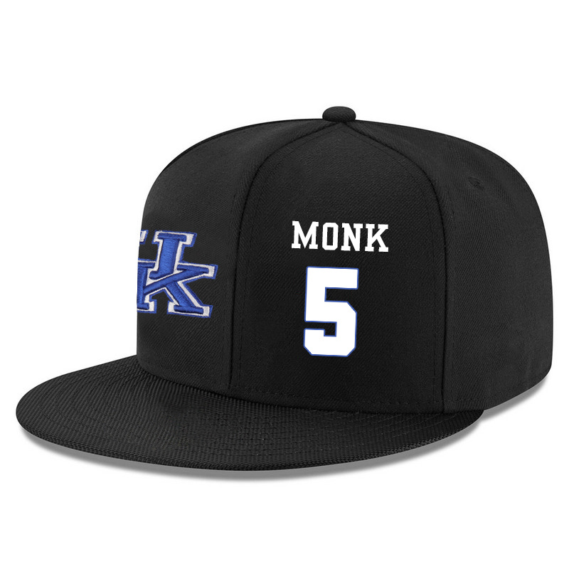 Kentucky Wildcats 5 Malik Monk Black Adjustable Hat