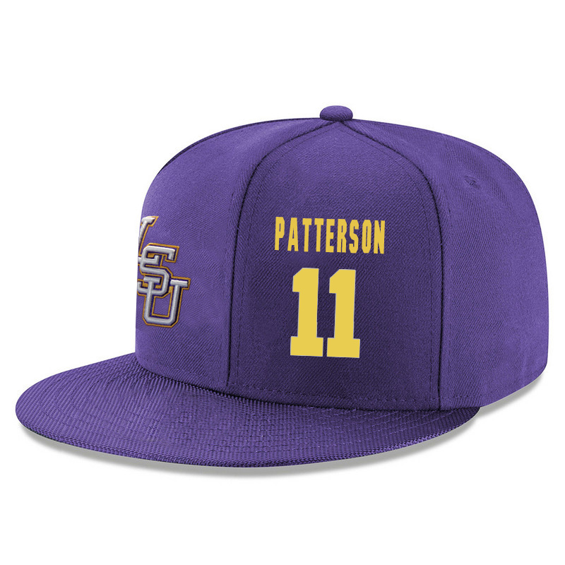 LSU Tigers 11 Jalyn Patterson Purple Adjustable Hat