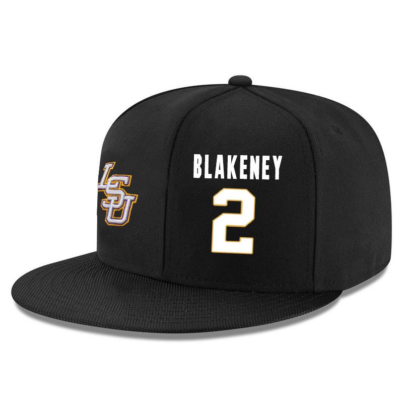 LSU Tigers 2 Antonio Blakeney Black Adjustable Hat