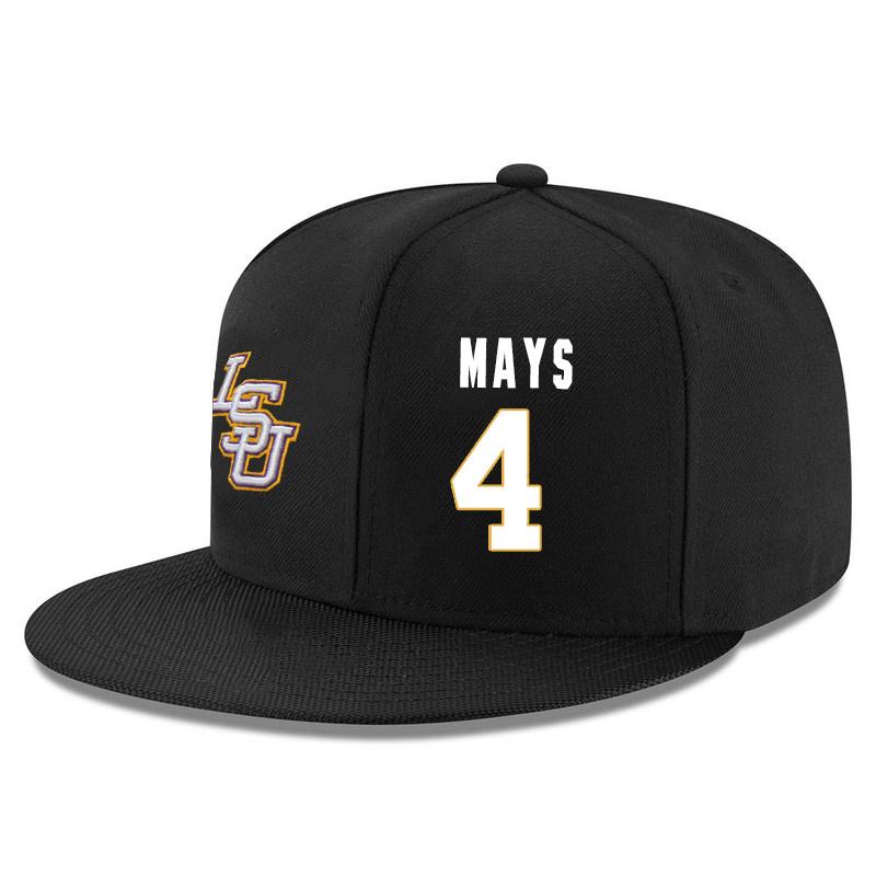 LSU Tigers 4 Skylar Mays Black Adjustable Hat