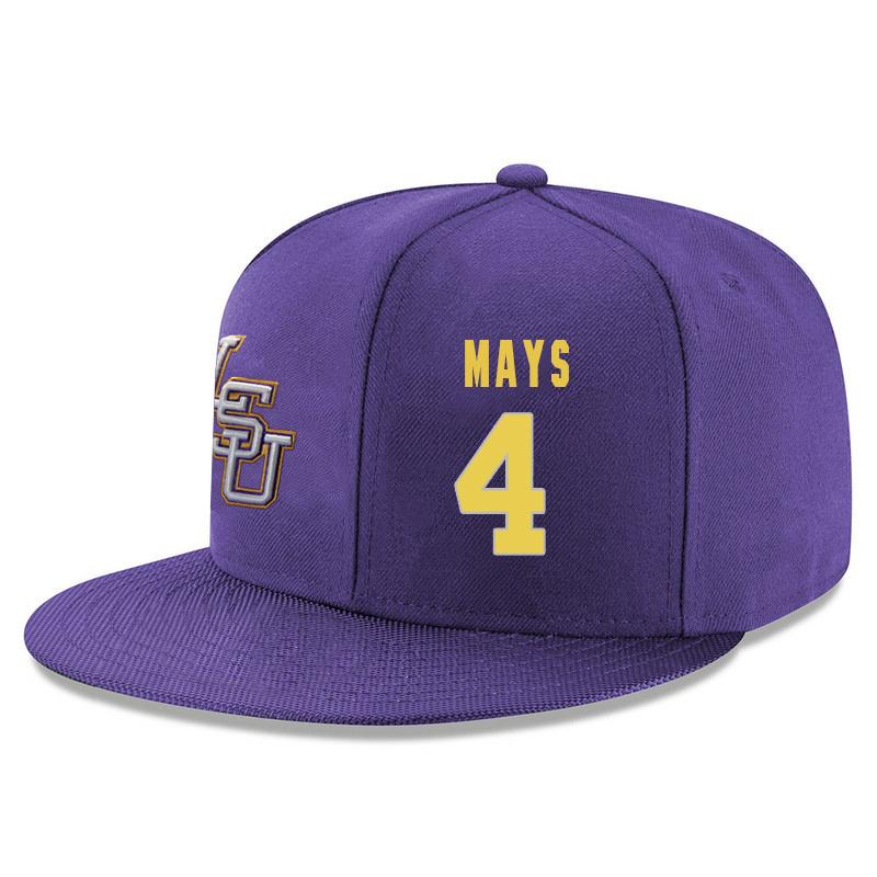 LSU Tigers 4 Skylar Mays Purple Adjustable Hat