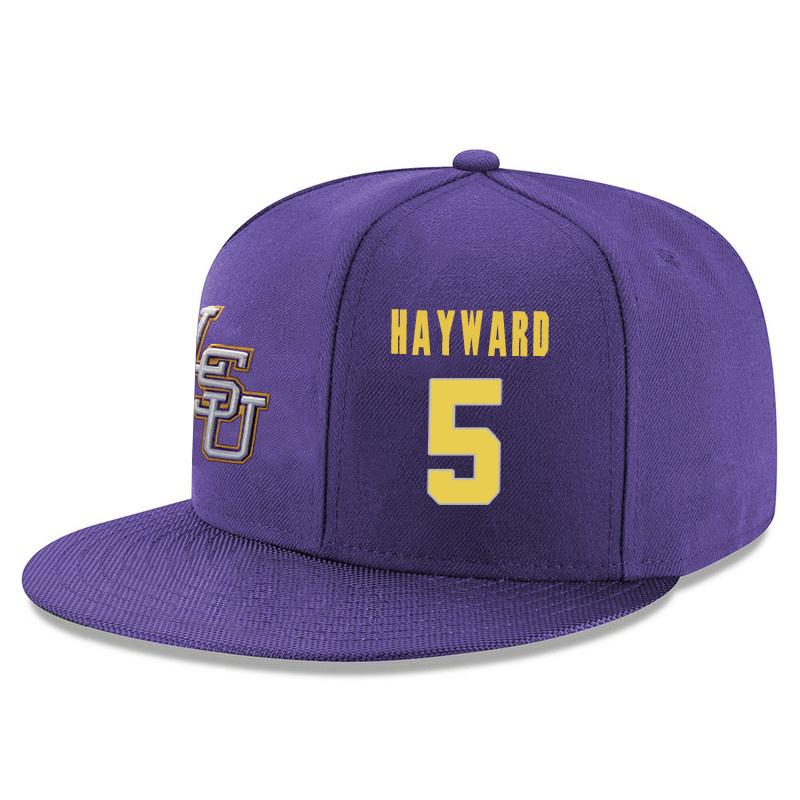 LSU Tigers 5 Kieran Hayward Purple Adjustable Hat