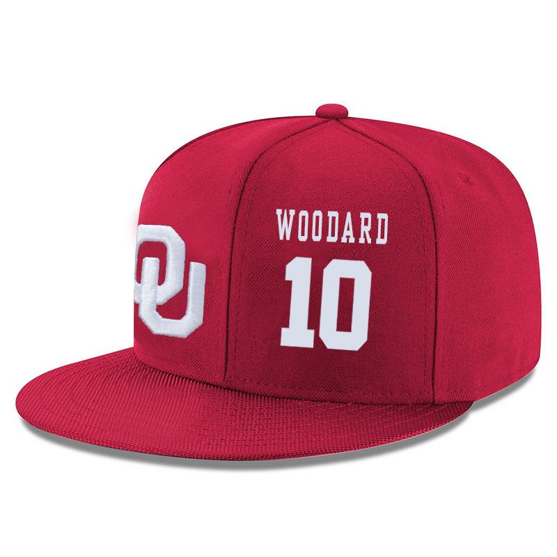 Oklahoma Sooners 10 Jordan Woodard Red Adjustable Hat