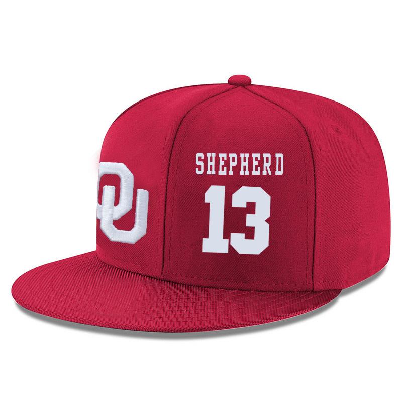 Oklahoma Sooners 13 Jordan Shepherd Red Adjustable Hat