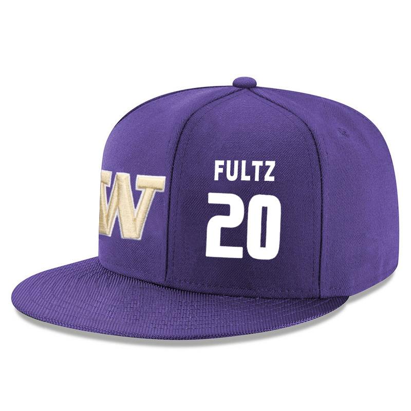 Washington Huskies 20 Markelle Fultz Purple Adjustable Hat