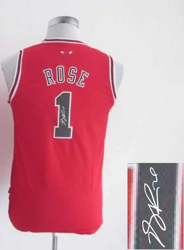 Bulls 1 Rose Red Signature Edition Women Jerseys