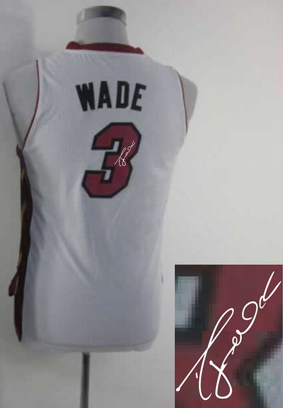 Heat 3 Wade White Signature Edition Women Jerseys