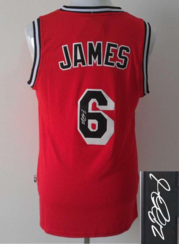 Heat 6 James Red Signature Edition Jerseys