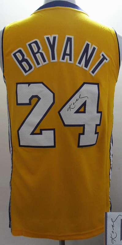 Lakers 24 Bryant Gold Signature Edition Jerseys