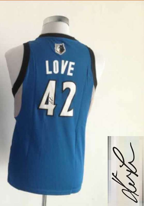 Timberwolves 42 Love Blue Signature Edition Women Jerseys