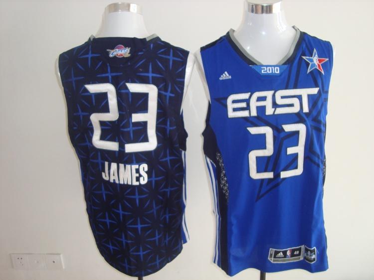 Cavaliers 23 James Blue 2010 All Star Jerseys