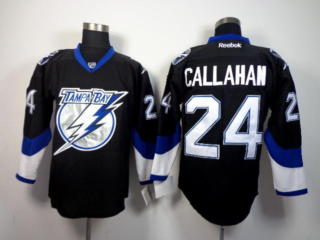 Lightning 24 Callahan Black Jerseys