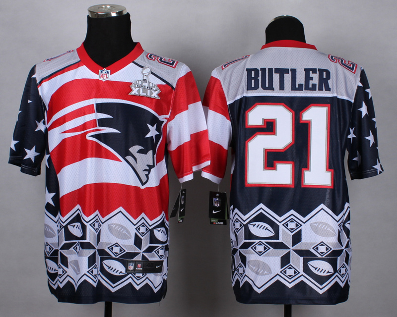 Nike Patriots 21 Butler Noble Fashion 2015 Super Bowl XLIX Elite Jerseys