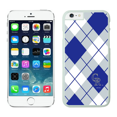Colorado Rockies iPhone 6 Cases White
