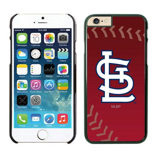 St Louis Cardinals iPhone 6 Cases Black