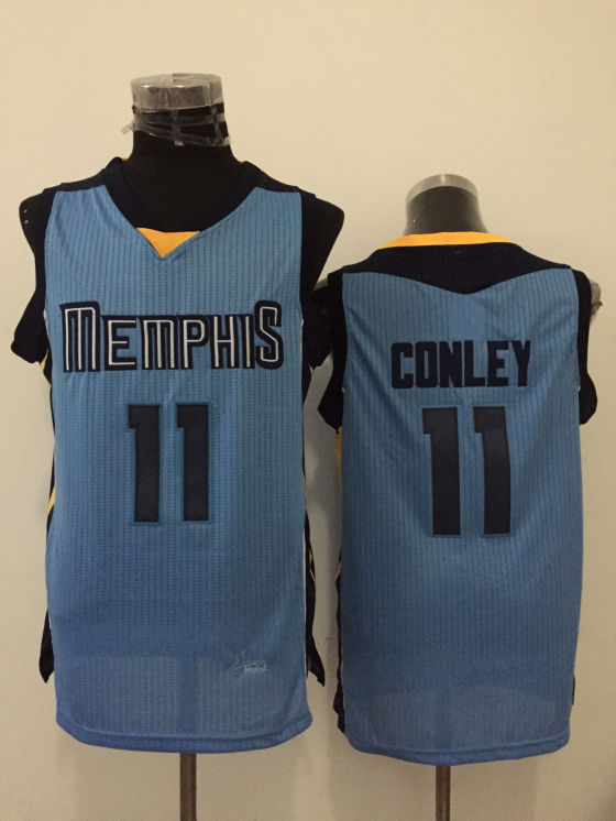 Grizzlie 11 Mike Conley Light Blue New Revolution 30 Jersey