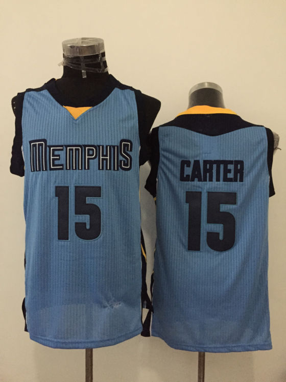 Grizzlies 15 Vince Carter Light Blue New Revolution 30 Jersey