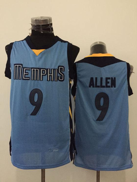 Grizzlies 9 Tony Allen Light Blue New Revolution 30 Jersey