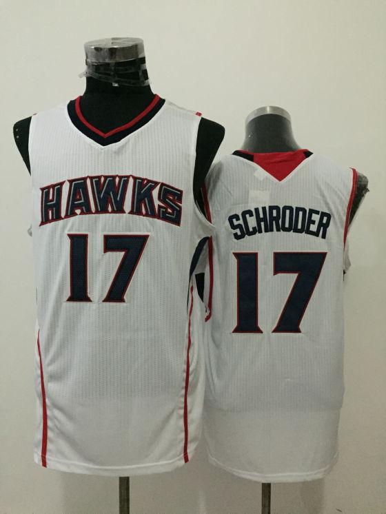 Hawks 17 Dennis Schroder White New Revolution 30 Jersey