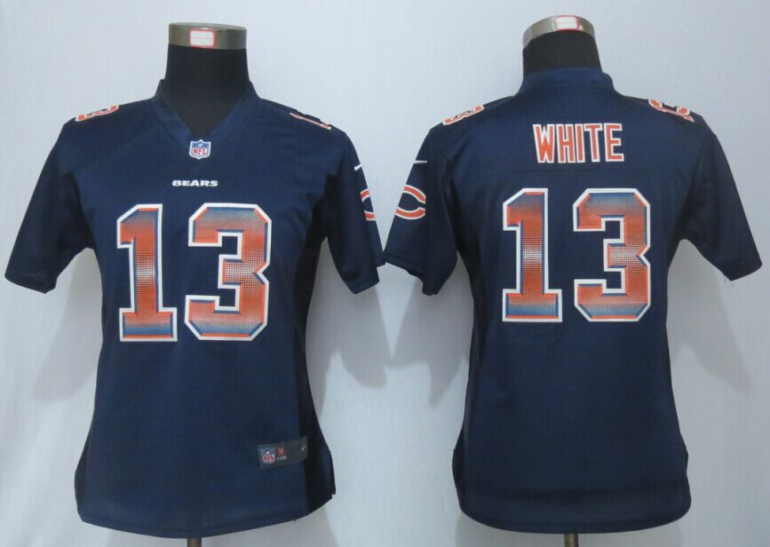 Nike Bears 13 Kevin White Blue Pro Line Fashion Strobe Women Jersey