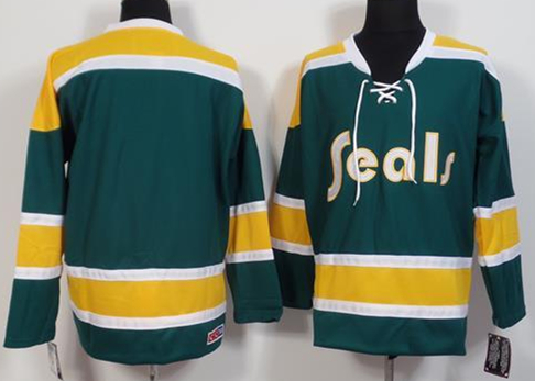 California Golden Seals Blank Teal CCM Jersey