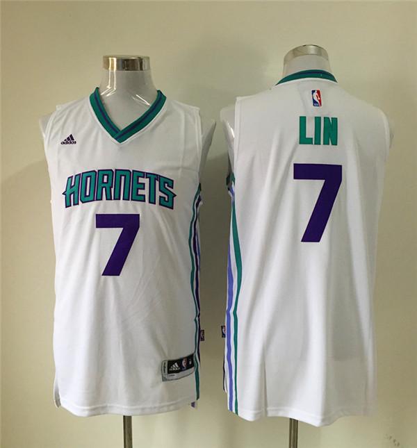 Hornets 7 Jeremy Lin White Swingman Jersey