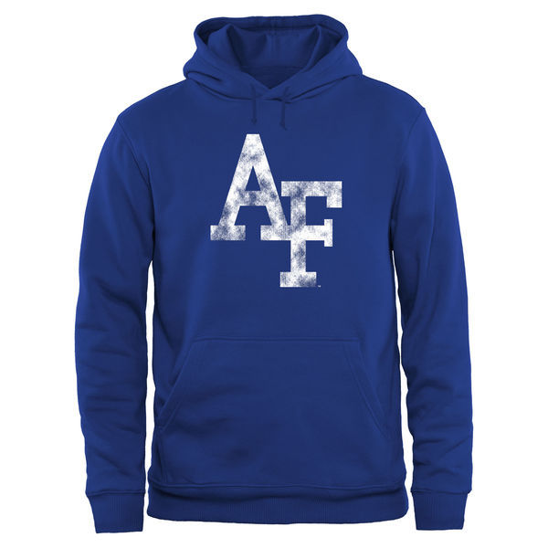 Air Force Falcons Fresh Logo Blue College Pullover Hoodie