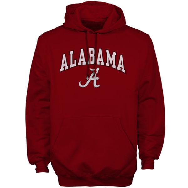 Alabama Crimson Tide Team Logo Red College Pullover Hoodie