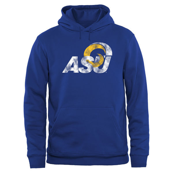 Albany State University Golden Rams Fresh Logo Blue College Pullover Hoodie (1)2