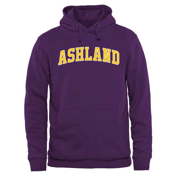 Ashland Eagles Team Logo Purple College Pullover Hoodie2
