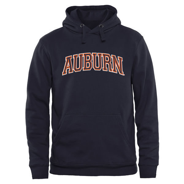 Auburn Tigers Navy Blue Fresh Logo College Pullover Hoodie