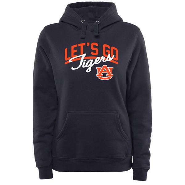 Auburn Tigers Navy Blue Team Logo College Pullover Hoodie