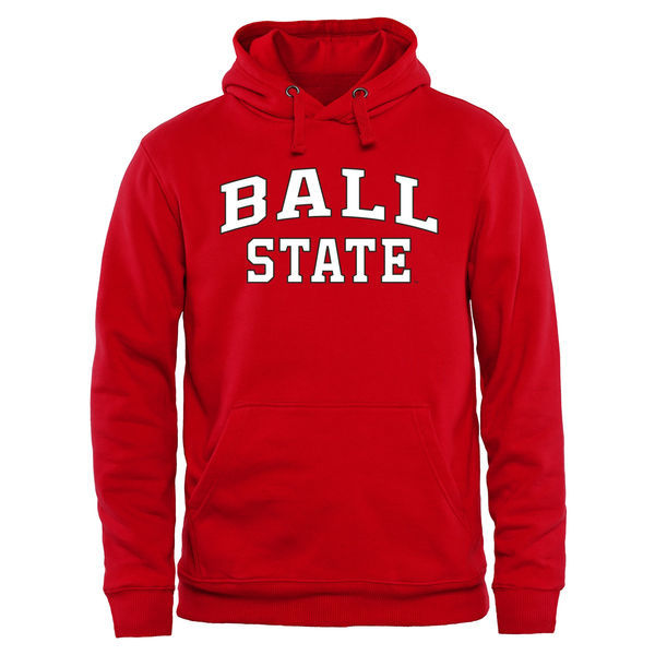 Ball State Cardinals Fresh Logo Red College Pullover Hoodie