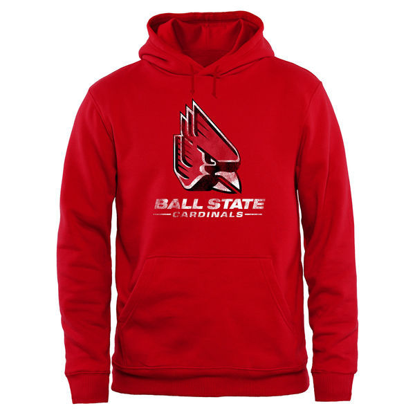 Ball State Cardinals Team Logo Red College Pullover Hoodie