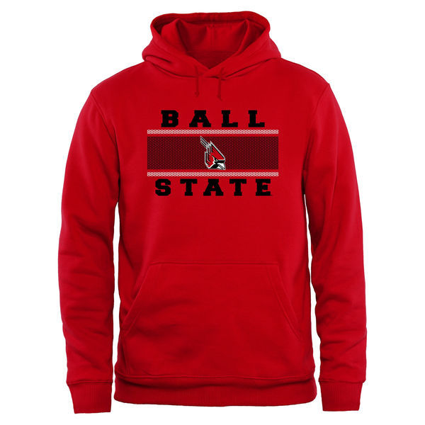 Ball State Cardinals Team Logo Red College Pullover Hoodie2