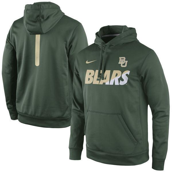 Baylor Bears Team Logo Green College Pullover Hoodie