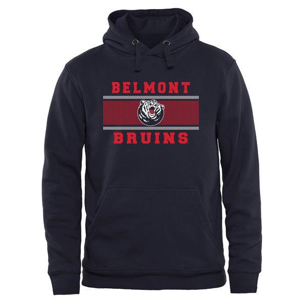 Belmont Bruins Team Logo Black College Pullover Hoodie2