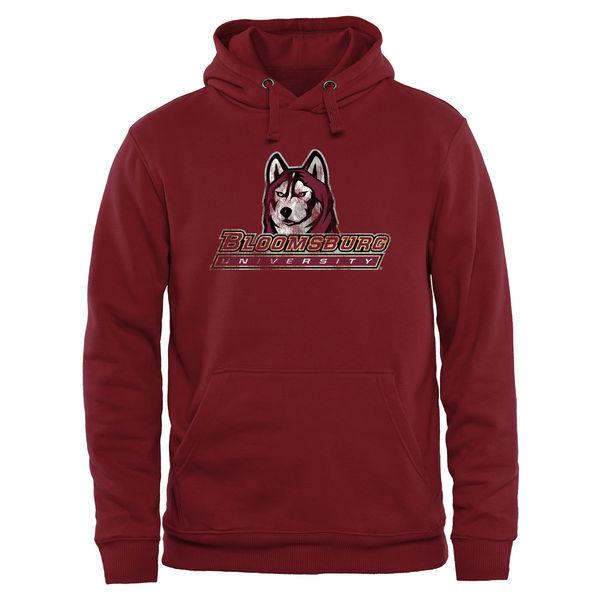 Bloomsburg Huskies Red Team Logo College Pullover Hoodie4