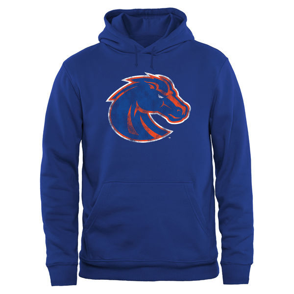 Boise State Broncos Team Logo Blue College Pullover Hoodie