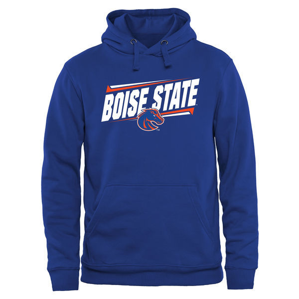 Boise State Broncos Team Logo Blue College Pullover Hoodie2