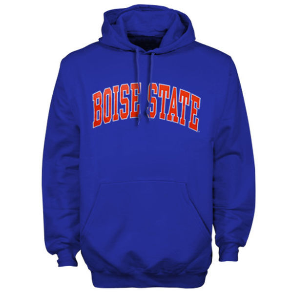 Boise State Broncos Team Logo Blue College Pullover Hoodie4