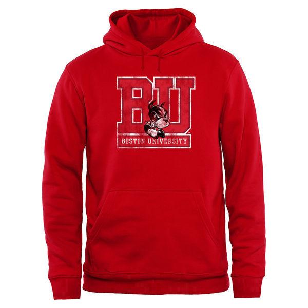 Boston University Terriers Team Logo College Pullover Hoodie