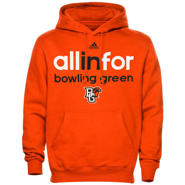Bowling Green Falcons Team Logo Orange College Pullover Hoodie