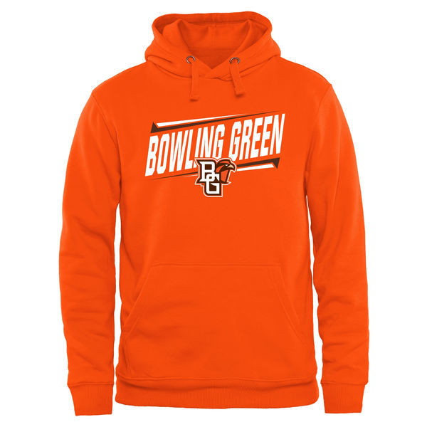Bowling Green Falcons Team Logo Orange College Pullover Hoodie2