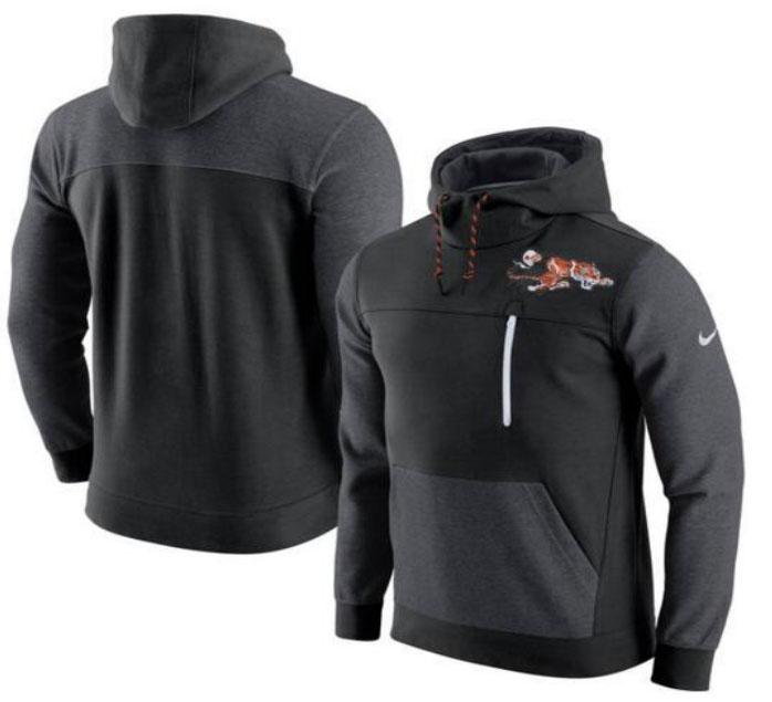 Cincinnati Bengals Nike AV15 Fleece Pullover Hoodie Black Charcoal