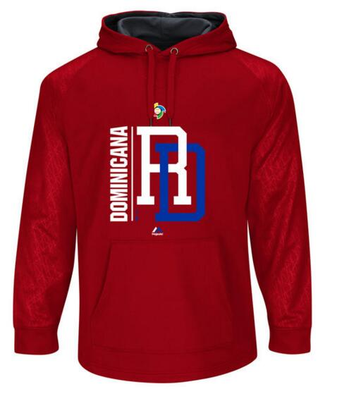 Dominican Republic Baseball Majestic World Baseball Classic Team Icon Fleece Pullover Hoodie Scarlet Graphite